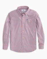 Southern Tide Boys Leeway Gingham Intercoastal Button Down Shirt