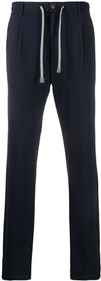 Eleventy Eventy pinstripe tapered trousers