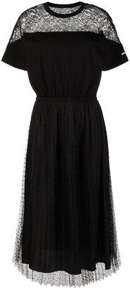 RED Valentino Lace-Panel Mid-Length Dress