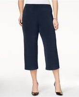 Alfani Plus Size Pull-On Culotte Soft Pants, Only at Macy's