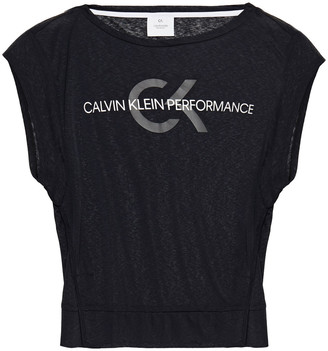 Calvin Klein Printed Slub Jersey Top