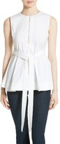 Theory Women's Desza Belted Stretch Cotton Top