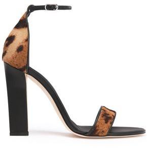 Victoria Beckham Leopard-print Calf Hair Sandals