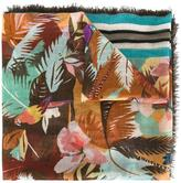 Valentino tropical print scarf - men - Silk/Cashmere/Wool - One Size