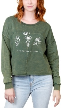 Rebellious One Juniors' The Future Is Yours Graphic Sweatshirt