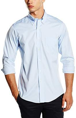 Brooks Brothers Men's Camicia Milano Taschino Manica Lunga Shirt, (Light/Pastel Blue 65), (Neck in. 15 Sleeve in. 33)