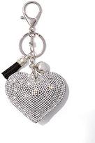 New York & Co. Sparkling Heart & Tassel Keychain