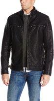 Buffalo David Bitton by David Bitton Men's Faux Leather Moto Jacket