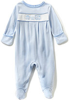 Starting Out Baby Boys Newborn-6 Months Train Embroidered Coverall