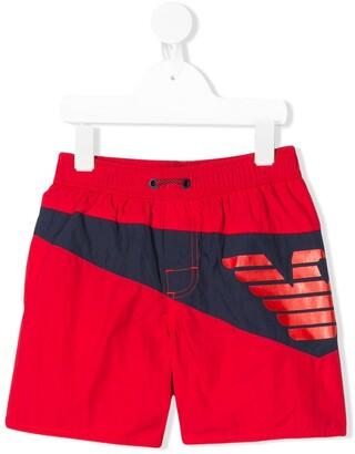 Emporio Armani Kids Logo Swim Shorts