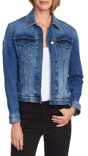 Vince Camuto Studded Denim Jacket