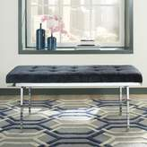 Donny Osmond Home Fashionable Bench in Lush Ink Blue Velvet