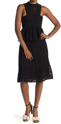 M Missoni Mock Neck Textured Knit Dress