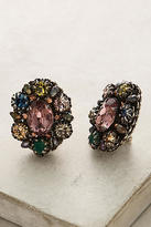Miriam Haskell Crystal Bouquet Clip-On Earrings