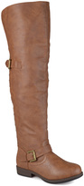 Journee Collection Chestnut Kane Wide-Calf Over-the-Knee Boot