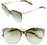 Victoria Beckham Women's Victoria, Layered Combination Kitten 55Mm Sunglasses - Amber Tortoise Shell