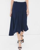 White House Black Market Front-Pleat Asymmetric Midi Skirt