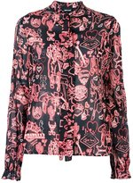 Just Cavalli Western print shirt - women - Silk/Polyester/Spandex/Elastane - 40