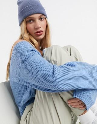 AX Paris v-neck cropped jumper in blue