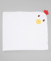 Luvable Friends White Chicken Hooded Towel
