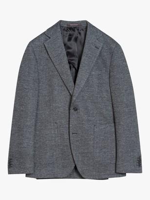 Oscar Jacobson Ferry Patch Slim Herringbone Blazer, Grey