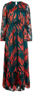 Y.A.S Red/Green Floral Yasopasia Dress - small