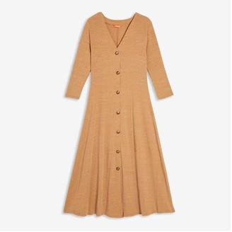 Joe Fresh Women's Button-Front Dress, Camel (Size S)