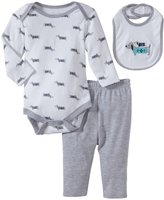 Bon Bebe Puppy Friends 3 Piece Pant Set (Baby)-Multicolor-6-9 Months