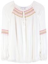 Diane von Furstenberg Sammy Embroidered Silk Blouse