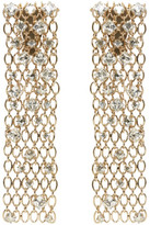 Lanvin Gold and Crystal Chain Clip-on Earrings