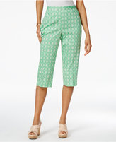 Alfred Dunner Petite Bahama Bays Turtle-Print Pull-On Capris