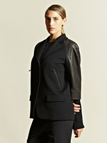 Jil Sander Women's Mozart Leather Sleeve Jacket