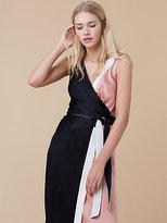 Diane von Furstenberg Color-blocked Wrap Dress