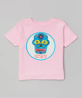 Swag Pink & White Skull Personalized Tee - Infant Toddler & Girls