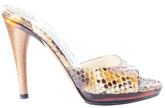 Jimmy Choo Brown Python Heels Sandals Size 35