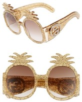Gucci Women's 53Mm Pineapple Sunglasses - Gold