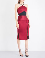 Roland Mouret Bartlow two-tone satin dress