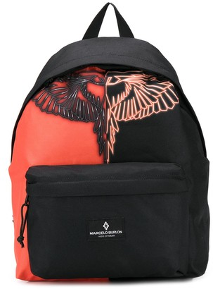 Marcelo Burlon County of Milan Kids TEEN two-tone wings-print backpack
