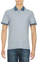 Original Penguin Striped Cotton-Blend Polo Shirt