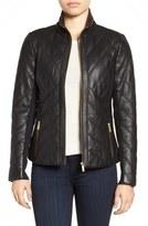 Badgley Mischka 'Eloise' Quilted Leather Moto Jacket