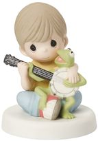 Precious Moments Disney's The Muppets Boy and Kermit The Frog Figurine by