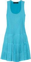 Thakoon Open-knit cotton-blend flared dress
