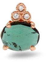 Jacquie Aiche Diamond, tourmaline & rose-gold earring