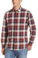 Haggar Men's LK Life Khaki Long Sleeve Poplin Regular Fit Button-Down Shirt