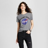Mighty Fine Women's I Need My Space NASA Graphic T-Shirt Charcoal Gray Juniors')