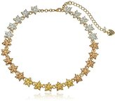 """Betsey Johnson Confetti"""" Glitter Faceted Stone Star Collar Necklace"""