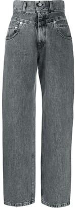 Alberta Ferretti High-Rise Wide Leg Jeans