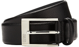 Hugo Boss Boss Ellot Leather Belt, Black