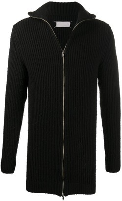Maison Martin Margiela Pre Owned 1990s Turtleneck Knitted Zipped Cardigan
