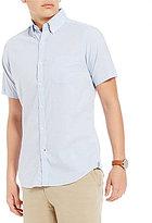 Daniel Cremieux Soho Slim-Fit Pinpoint Oxford Mini-Stripe Short-Sleeve Stretch Woven Shirt